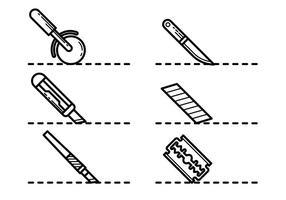 Cortar Aquí Iconos Vectoriales