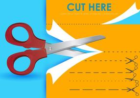 Cut Here With Scissors Templates vector