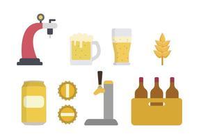 Vecteurs de bière plats