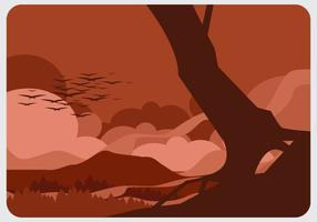 Forest on Fire Vector