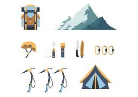 Vetores de ferramentas de caminhante plano