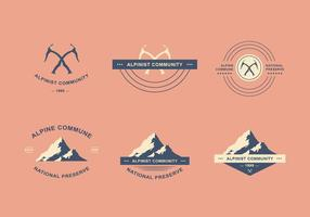 Alpinist logotyp set