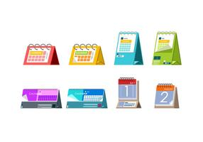 Desktop Agenda Sjabloon Gratis Vector