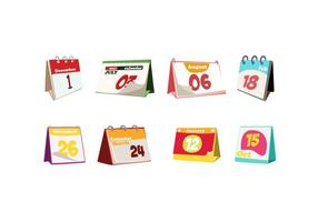 Fun Desktop Calendar Free Vector