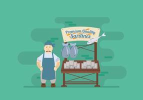 Sardine Stand Vektor