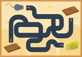 Mouse Trap Maze Game Vector