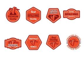 Buffalo Wings Badge Vectores