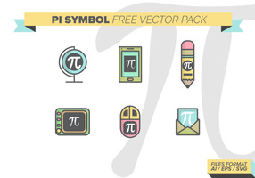 Pacote de vetor livre do símbolo do pi