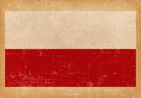 Grunge flagga av Polen