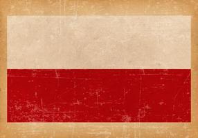 Bandiera del grunge della Polonia