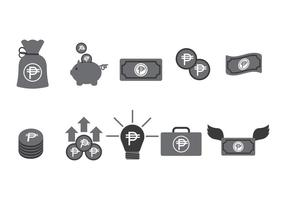 Currency Peso Icons Vector