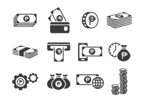 Vecteur d'icônes de poids