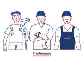Tradesman paquete de vectores