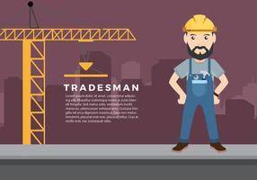 Tradesman profile free vector