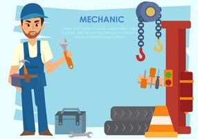 Mechanic Man Vector