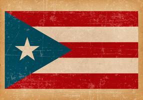 Grunge Flagga Puerto Rico