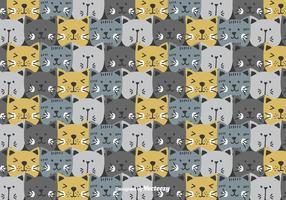 Patrón de vector gatos