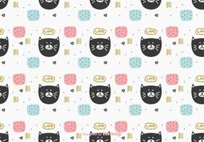 Pretty Cat Pattern Vector