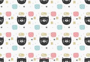 Hübsche Katze Muster Vektor