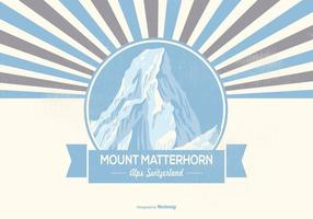 Montera matterhorn retro illustration