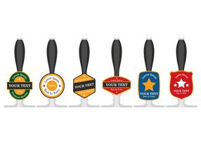 Beer Pump Handles vector