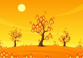 Burning Trees Free Vector