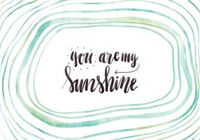 Watercolor Abstract Waves With Lettering Motivational Quote