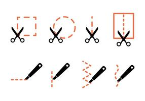 Cut Here Vector Icons