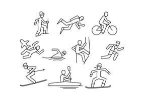 Free Extreme Sport Line Icon Vector