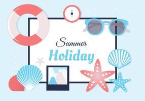 Kostenlose bunte Sommer Elemente Vektor Hintergrund