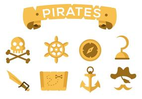 Free Pirate Icons Vector