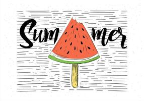 Free Hand Drawn Vector Watermelon Illustration