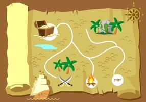Treasure Map Free Vector