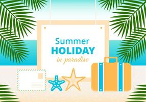Fondo libre del vector del día de fiesta de verano