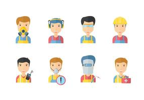 Safety Working Icons vector