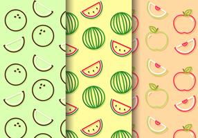 Patrons de fruits mignons gratuits
