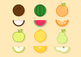Vecteurs de fruits mignons gratuits