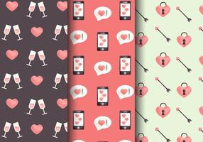 Free Cute Valentine's Day Patterns vector