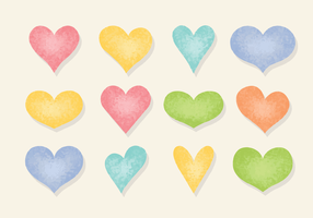 Gratis Grainy Hearts Vector