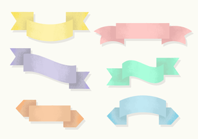 Gratis Grainy Ribbons Vector