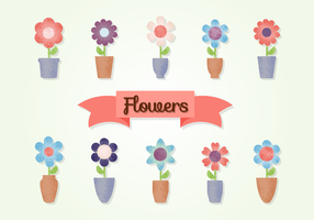 Gratis Grainy Flowers Vector