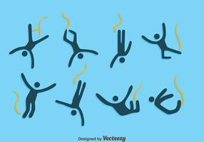 Bungee Jumping Icons Vector