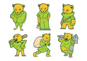 Libre Cougar Mascot Vector 01