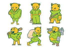 Gratis Cougar Mascot Vector 01