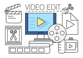 Free video edit icons vektor