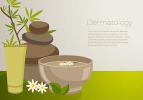 La dermatología establece vector libre