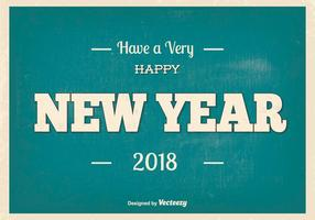 Retro New Year 2018 Illustration vector