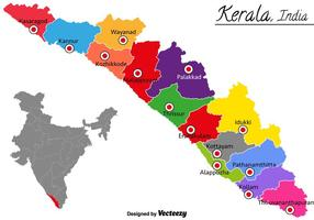 Vector kerala india kaart