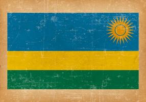 Grunge flagga av Rwanda
