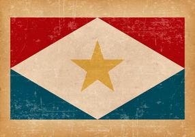 Grunge Flagge von Saba